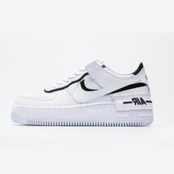 NIKE AIR FORCE ONE SHADOW BLACK AND WHITE
