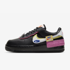 Nike Air Force 1 Shadow Removable Patches Black Pink